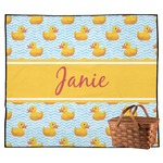 Rubber Duckie Outdoor Picnic Blanket (Personalized)