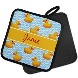 Rubber Duckie Pot Holder w/ Name or Text