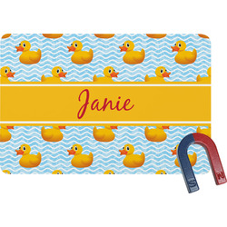 Rubber Duckie Rectangular Fridge Magnet (Personalized)