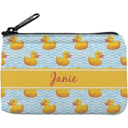 Rubber Duckie Rectangular Coin Purse (Personalized)
