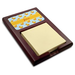 Rubber Duckie Red Mahogany Sticky Note Holder (Personalized)