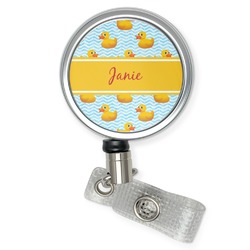 Rubber Duckie Retractable Badge Reel (Personalized)