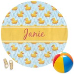 Rubber Duckie Round Beach Towel (Personalized)