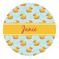 Rubber Duckie Round Decal (Personalized)