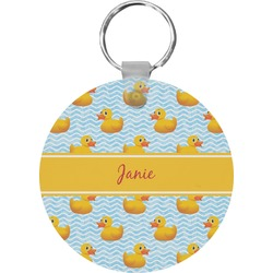 Rubber Duckie Round Keychain (Personalized)