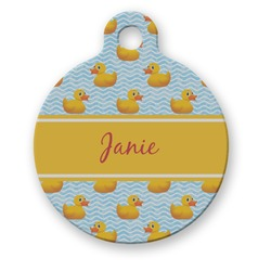 Rubber Duckie Round Pet Tag (Personalized)