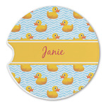 Rubber Duckie Sandstone Car Coasters (Personalized)