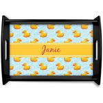 Rubber Duckie Black Wooden Tray (Personalized)