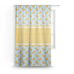 Rubber Duckie Sheer Curtains (Personalized)