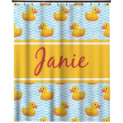 """Rubber Duckie Extra Long Shower Curtain - 70""""x84"""" (Personalized)"""