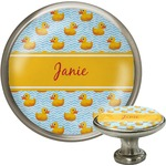 Rubber Duckie Cabinet Knob (Silver) (Personalized)