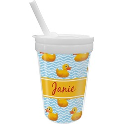 Rubber Duckie Sippy Cup with Straw (Personalized)