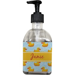 Rubber Duckie Soap/Lotion Dispenser (Glass) (Personalized)