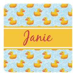 Rubber Duckie Square Decal - Custom Size (Personalized)