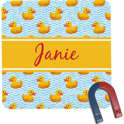 Rubber Duckie Square Fridge Magnet (Personalized)