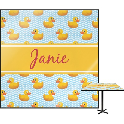 Rubber Duckie Square Table Top (Personalized)