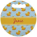 Rubber Duckie Stadium Cushion (Round) (Personalized)