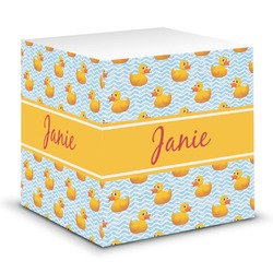 Rubber Duckie Sticky Note Cube (Personalized)