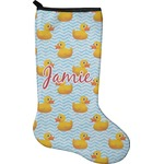 Rubber Duckie Holiday Stocking - Neoprene (Personalized)
