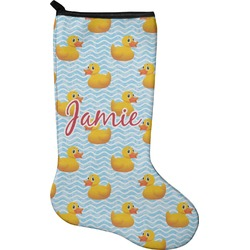 Rubber Duckie Christmas Stocking - Neoprene (Personalized)
