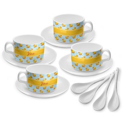 Rubber Duckie Tea Cup - Set of 4 (Personalized)