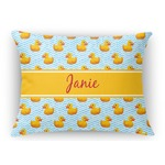 Rubber Duckie Rectangular Throw Pillow Case (Personalized)