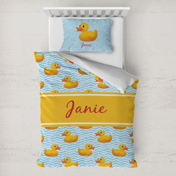 Rubber Duckie Toddler Bedding Set w/ Name or Text