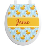 Rubber Duckie Toilet Seat Decal (Personalized)