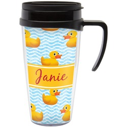 Rubber Duckie Travel Mug with Handle (Personalized)