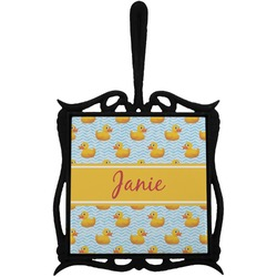 Rubber Duckie Trivet with Handle (Personalized)