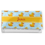 Rubber Duckie Vinyl Checkbook Cover (Personalized)