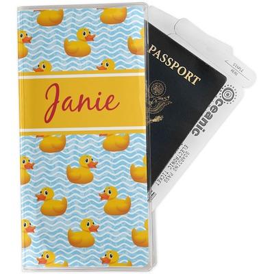 Rubber Duckie Travel Document Holder