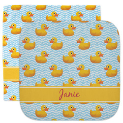 Rubber Duckie Facecloth / Wash Cloth (Personalized)
