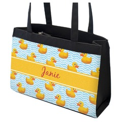 Rubber Duckie Zippered Everyday Tote (Personalized)