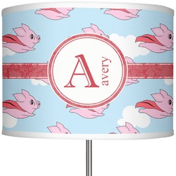 "Flying Pigs 13"" Drum Lamp Shade (Personalized)"