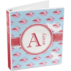 Flying Pigs 3-Ring Binder (Personalized)
