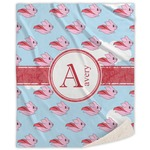 Flying Pigs Sherpa Throw Blanket (Personalized)