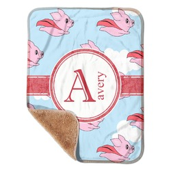"Flying Pigs Sherpa Baby Blanket 30"" x 40"" (Personalized)"
