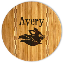 Flying Pigs Bamboo Cutting Board (Personalized)