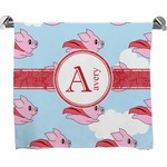 Flying Pigs Full Print Bath Towel (Personalized)