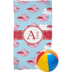 Flying Pigs Beach Towel (Personalized)