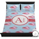 Flying Pigs Duvet Cover Set (Personalized)