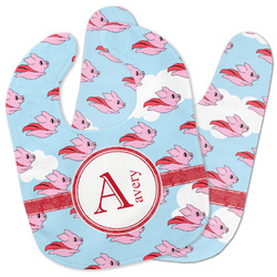 Flying Pigs Baby Bib w/ Name and Initial