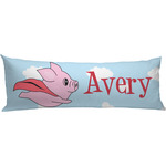 Flying Pigs Body Pillow Case (Personalized)