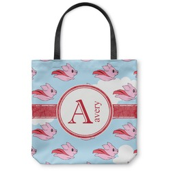 Flying Pigs Canvas Tote Bag (Personalized)