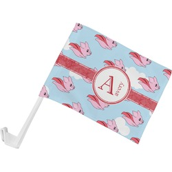 Flying Pigs Car Flag (Personalized)