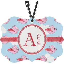 Flying Pigs Rear View Mirror Charm (Personalized)