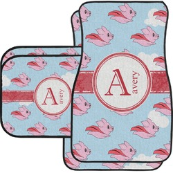 Flying Pigs Car Floor Mats Set - 2 Front & 2 Back (Personalized)