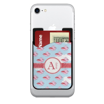 Flying Pigs 2-in-1 Cell Phone Credit Card Holder & Screen Cleaner (Personalized)