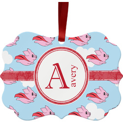 Flying Pigs Ornament (Personalized)